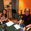 Emily Morris and Bill Nussey in the Freeing Energy recording studio